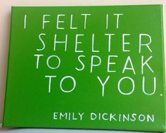 I felt it shelter to speak to you wall art on Etsy, $38.00