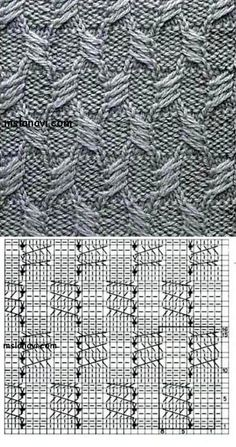 узор с вытянутыми петлями спицами