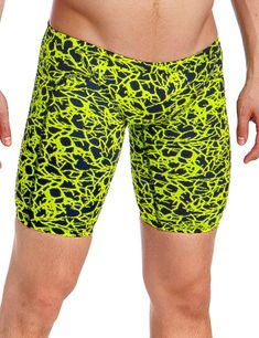 03aabc84af FT37M01967 Funky Trunks Mens Coral Gold Training Jammers - FT37M01967 Coral  Gold