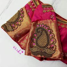 Cutwork Blouse Designs, Saree Blouse Neck Designs, Simple Blouse Designs, Traditional Blouse Designs, Diy Embroidery Designs, Hand Work Blouse Design, Designer Blouse Patterns, Hand Designs, Blouses