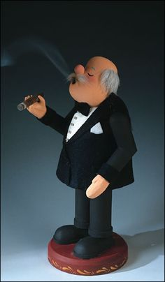 Zim's Heirloom Collectibles Cigar Smoker Nutcracker Z97-125