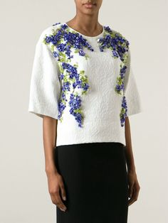 Dolce & Gabbana Wisteria Embellished Brocade Top - Nida - Farfetch.com
