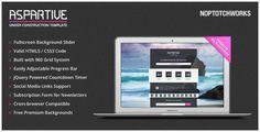Aspartive - Fullscreen Under Construction Template - ThemeForest Item for Sale