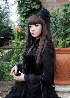 Boguta Black Swan Velvet Top Jumper Dress $79.99-Cotton Lolita Dresses - My Lolita Dress