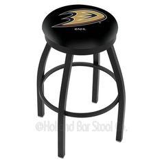 "Holland Bar Stool NHL 25"" Swivel Bar Stool NHL Team: Calgary Flames, Finish: Black"