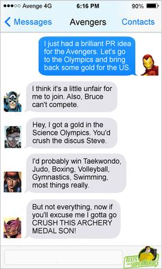Yeah! Go Team USA! (Rio 2016 Summer Olympics) Superhero Texts