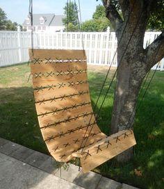 Un fauteuil suspendu en palette à faire soi même pour le jardin