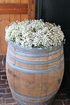 Wine Barrel, Baby's Breath