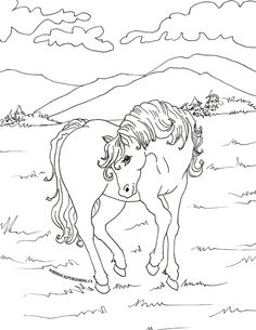 chevale coloring pages - photo#42