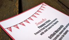 Reserved for Hollie  Concessions Menu for Weddings and by InviteMe, $5.00