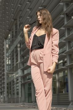 pink asos suit