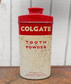 Vintage Medicine Colgate Tooth Powder Antique by kerrilendo