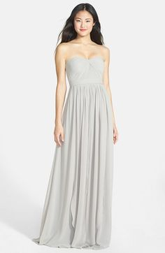 Dove Grey or Champagne -- Jenny Yoo 'Aidan' Convertible Strapless Chiffon Gown (Regular & Plus Size) | Nordstrom