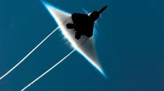 An F-22 Raptor breaking the sound barrier - Imgur