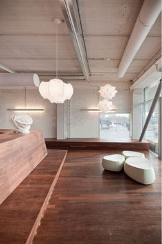 Modern pendant lighting – designed by the Castiglioni brothers, the ethereal bloom of Taraxacum and Viscontea comes from the innovative process of spraying a cocoon resin onto white powder coated steel, finalized with a transparent finish. Lantern Chandelier, Pendant Chandelier, Pendant Lighting, Modern Light Fixtures, Modern Lighting, Lighting Design, Space Interiors, Living Room Lighting, Kitchen Lighting