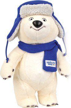 "Polar Bear Official Mascot of Sochi 2014 in Ushanka Hat (12.5"") by Kids First, http://www.amazon.co.uk/dp/B00FDXQH4W/ref=cm_sw_r_pi_dp_Hbt9sb04FQWTR"