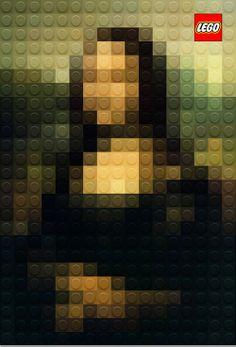 Mona Lisa Lego. Pixel art