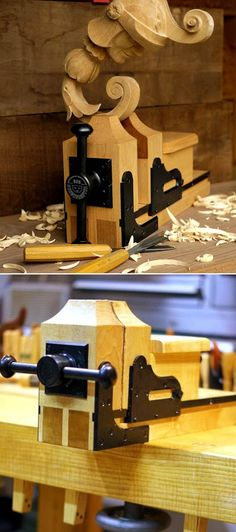 Matt's Carving Vise   http://benchcrafted.blogspot.ca/search/label/Carver's%20Vise