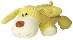 Dogit Corduroy Plush Dog Toy for Dogs, Large, Yellow