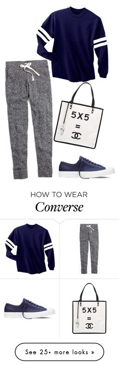 """Realistic approach"" by blondybecca on Polyvore featuring Madewell, Converse and Chanel"