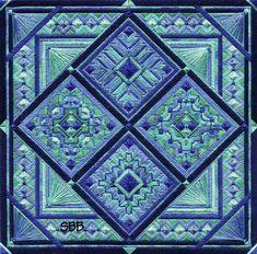 Needlepoint quilt block design More