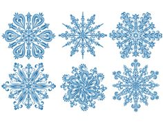 White-work Snowflakes for 5x7, 7x7 and 8x8-inch hoops