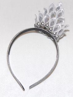 hearband hair-accessories Kanzashi handmade Flowers por zavituwka