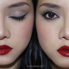 Sparkly Charcoal Cat Eye Liner, Soft Matte Grey Lids, and... - The Makeup Box