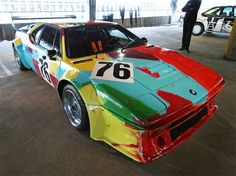 BMW art car collection - art drive! in london  by Andy Warhol , 1979