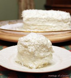 *No Bake* Coconut Cake, seriously no oven required for this one! Perfect for summer. Known as icebox cake or zebra cake in some places. Super easy to make and absolutely delicious. - Serves 8