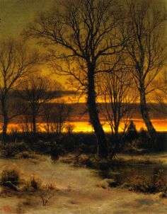 Louis Remy Mignot, Sunset in the Forest