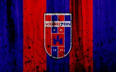 Download wallpapers 4k, FC Videoton, grunge, NB I, Hungarian Liga, soccer, football club, Hungary, Videoton, art, stone texture, Videoton FC
