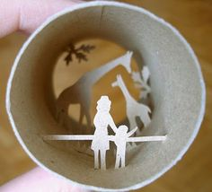 Recycled art: Toilet paper roll crafts for kids (lots of cool ideas on this site!)
