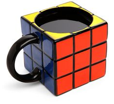 Rubik's Cube Mug  The perfect gift for the coffee drinking puzzle solver. In 2nd grade, I used to physically take apart rubik's cubes and put them back together all perfect looking. My teacher thought I was a genius. And really, isn't that more genius than actually doing it the right way?    amazon  $12.99