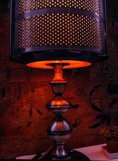lamp, Upcycling,  vintage  style,  washer drum, customized