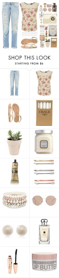 """A Secret Garden"" by hannah-ball ❤ liked on Polyvore featuring Paige Denim, Jayson Home, Laura Mercier, Toast, Aesop, Madewell, MOOD, Gucci, Links of London and Jo Malone"