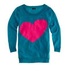 Love this J. Crew heart sweater :)