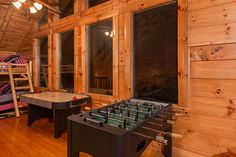 Huge wrap loft with air hocky, fooz ball, pool table, arcade game, tv, games, comfortable seating and a full over full bunk bed with memory foam mattress on the bottom bunk.    Call Pat Kirchhoefer, owner of cabins at 618-559-3915 ‪   ‬‬‬‬‬‬‬#vacay ‬‬‬‬‬‬‬‬‬‬#vacation #mountains ‬‬‬‬‬‬‬‬‬‬‬‬‬‬‬‬‬‬‬‬‬‬‬#greatsmokymountains #tennessee‬ #GSMNP #travel #nature‬‬‬‬‬‬‬ #hiking #wildlife #scenery #family #views ‬‬‬‬#familytime‬‬ #getaway #forest #trees‬‬ #smokymountains #cabin #vacationrental‬‬‬…
