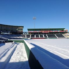 The stadium is beautiful even covered in snow!