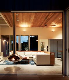 Norther California Waterfront home.  Although most radiant-heating systems are gas-powered, these ground-cement floors take the chill off with an electric warming system. Loc...