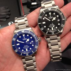 Baselworld 2015: Introducing the New Tudor Pelagos Blue and the Redesigned Pelagos Black. Both Now with In-House Movement.
