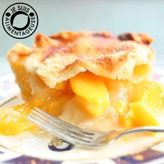 Peach Pie. A delicious, rustic peach pie with a simple peach filling. Perfect for spring and summer!