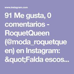 """91 Me gusta, 0 comentarios - RoquetQueen (@moda_roquetqueen) en Instagram: """"Falda escosesa disponible con detalle de cierre y cadena colgante doble tira 🔥 Valor $60.000…"""" Grunge Girl, Instagram, Chain, Budget"""