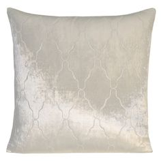 Kevin O'Brien Studio hand painted velvet Arches pillow in white colorway.