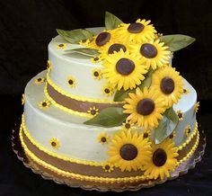 Sunflower Cake Flickr Photo Sharing Cake decorating Tips