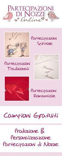 Partecipazioni di Nozze Online – Produzione e Personalizzazione di Partecipazioni, Inviti di Matrimonio, Biglietti – Campioni Gratuiti.