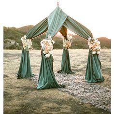 maybe with sheer fabric and lanterns/candles inside