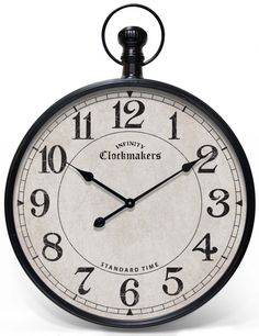 Large Pocket Watch Wall Clock - Foter