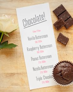 Chocolate Menu. By Cake Me! Oslo. Email cakemeoslo@gmail.com for orders and enquiries.