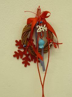 Γούρι - Lucky charm Christmas Crafts, Christmas Decorations, Xmas, Christmas Ornaments, Holiday Decor, Christmas Ideas, Lucky Charm, Clock, Charmed